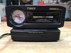 Vintage~Timex Indiglo FM/AM Alarm Clock Radio Nite Light TX282B Original TESTED