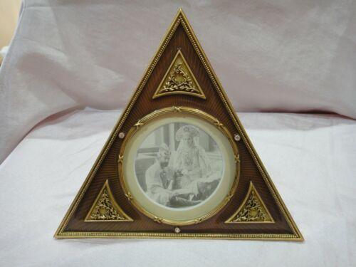 Alexander Vanderbilt Frame Forbes collection Triangle gold  orange/goli with tag