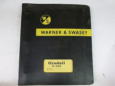 The Warner And Swasey Co. Gradall G-660 Operating Instructions