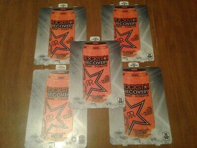 5dixie Narco 501e Soda Vending Machine Rockstar Recovery Orange20oz Vend Label