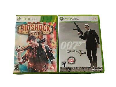 Lot of 2 Xbox 360 Games James Bond 007 Quantum of Solace & Bioshock Infinite CIB