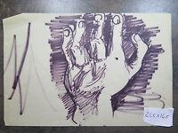 Disegno Su Carta Vintage Studio Per Mano Maschile Opera Originale Pancaldi P28 -  - ebay.it