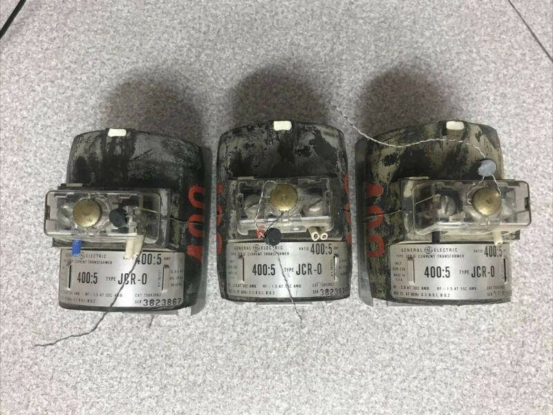 GE Current Transformer 750X34G2 Pack of 3 Type JCR 0 Ratio 400:5