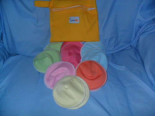 Nursing Pads 12 pcs. Reusable Washable w/pouch Breastfeeding Love My very soft