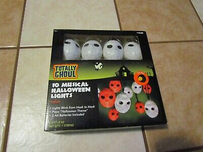 MICHAEL MYERS HALLOWEEN HORROR LIGHTS STRING THEME MUSIC 10' BLINKING NEW NIB