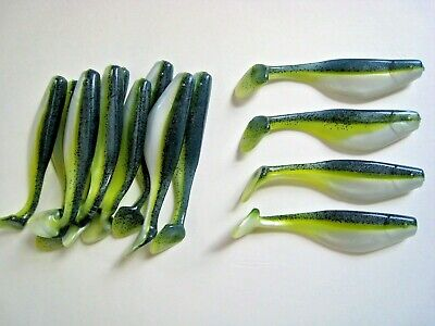 80 pack - 4 Paddle Tail Shad - SEXY SHAD - Paddle Tail Swim Bait - USA