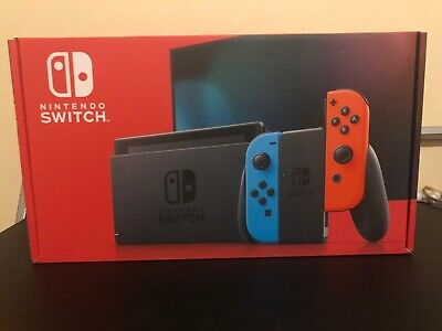 Nintendo Switch 32GB Gray Console Neon Red and Blue Joy-Con New Model Fast Ship