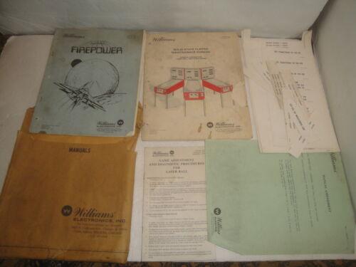 WILLIAMS FIREPOWER PINBALL MACHINE MANUAL SCHEMATICS GORGAR LASER BALL 1979/80