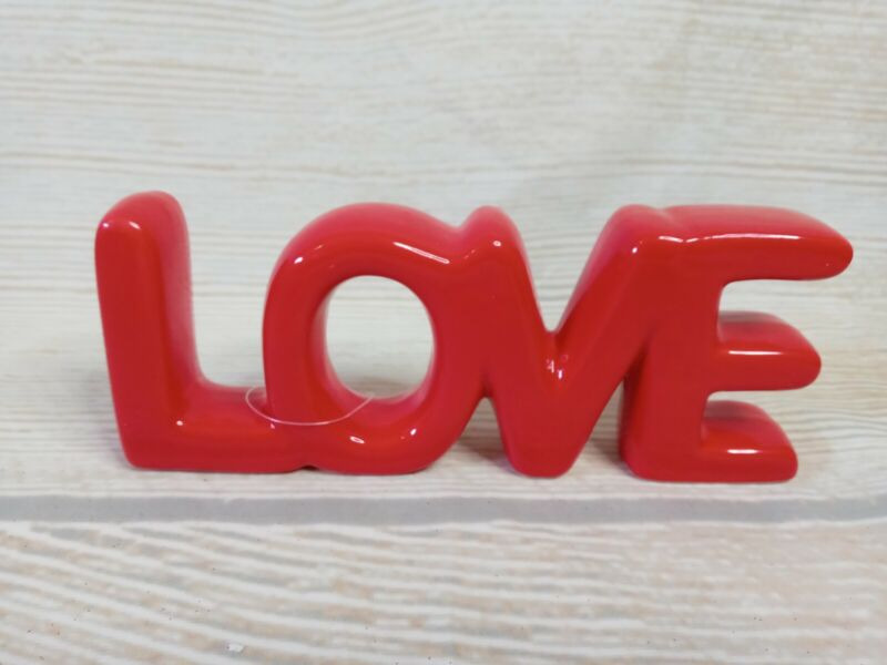 New! LOVE Red Ceramic Sign Valentine