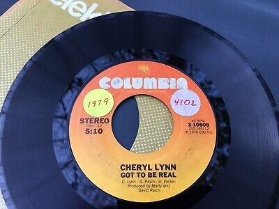 CHERYL LYNN GOT TO BE REAL ~ COME IN FROM THE RAIN  V 45 7  F2