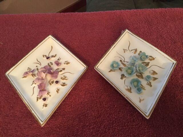 Vintage Set of Lefton Flower Wall Hangings #2780
