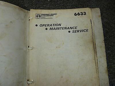 Koehring 6633 Excavator Owner Operator Maintenance Service Repair Manual Book