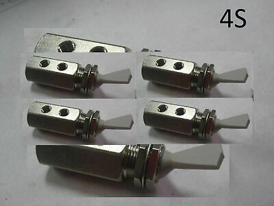 4 Nylon Air Pneumatic Stainless Steel 3-way Detented Momentary Toggle Switch