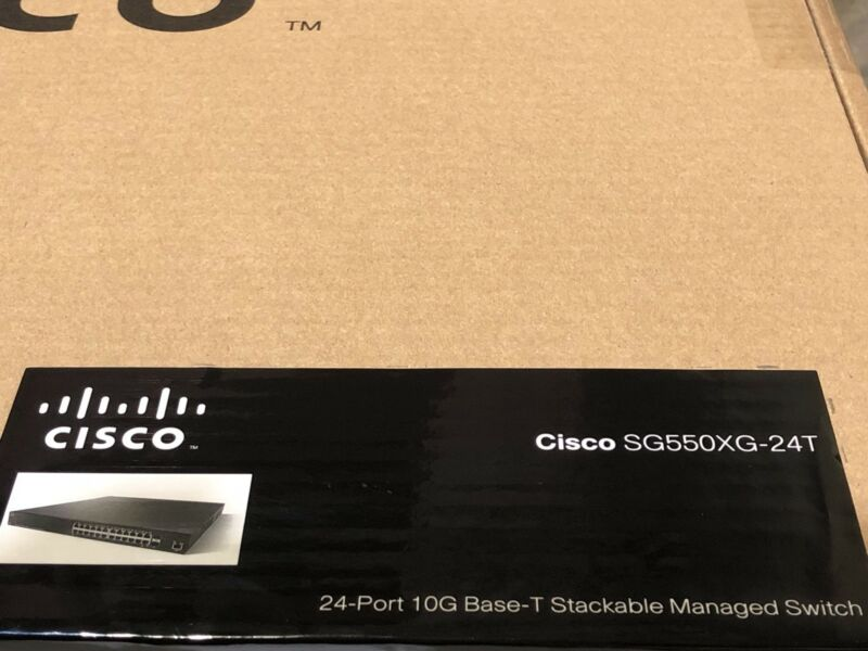 New Cisco Sg550xg-24t-k9-na Sg550xg-24t 24-port 10gbase-t Stackable Managed