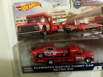 Hot Wheels Tram Transport Duster Funny Car NHRA Tom McEwen w/ RIG MONGOOSE