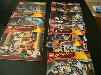 Lego - Instruction books - Indiana Jones, Hobbit and Prince of Persia