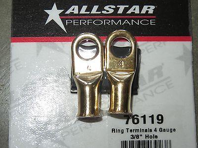Allstar Performance ALL76119 4 Gauge Ring Terminals 38 Hole 2 pk Battery