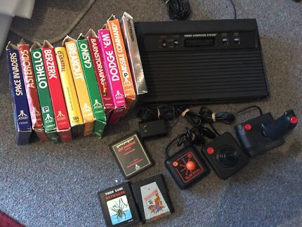 Atari 2600 + games and joy sticks - vintage space invaders  Gawler East Gawler Area Preview