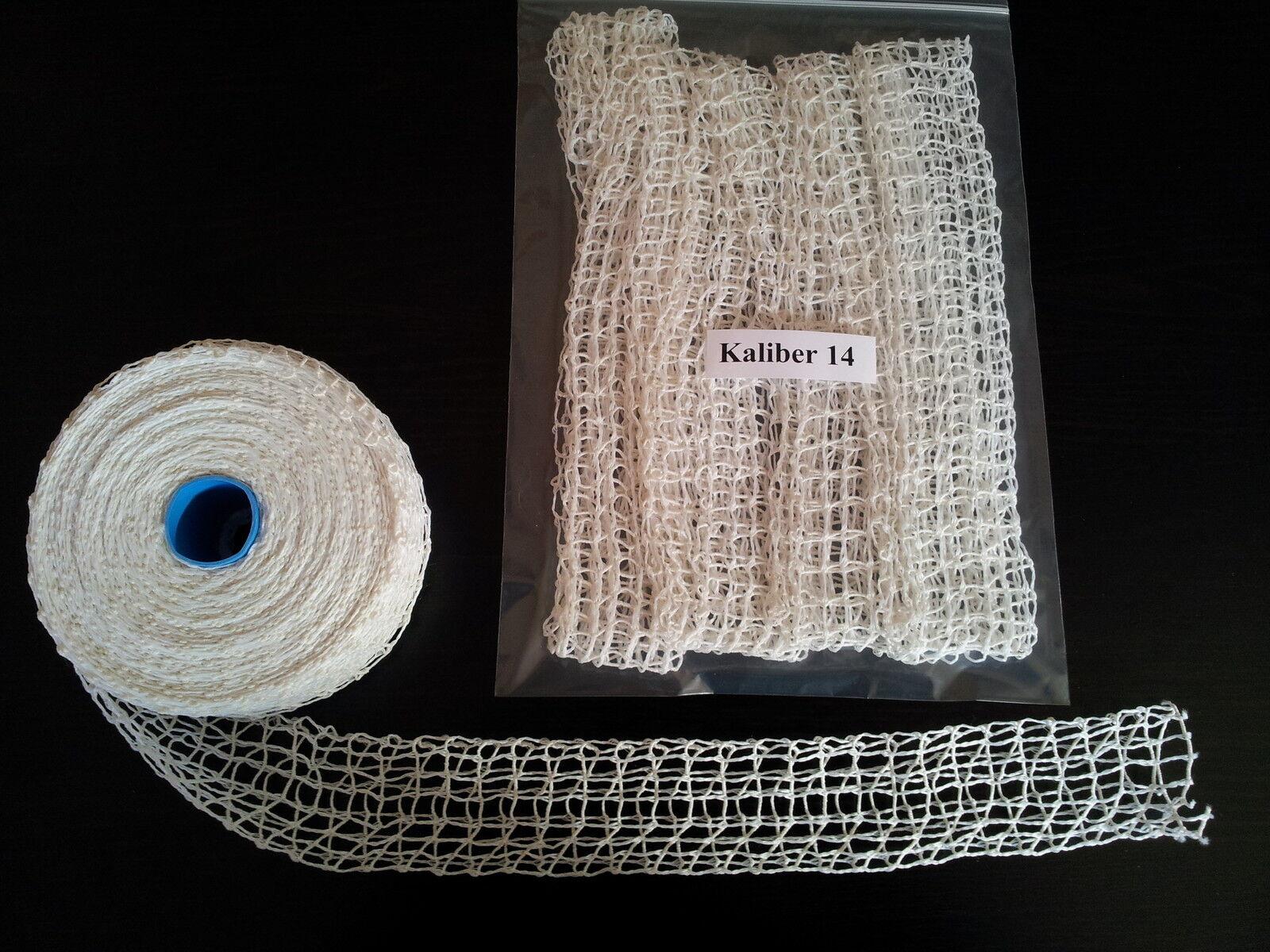 Schinkennetz Rollbratennetz R/äuchernetz wei/ß natur 16er elastisch 5 m