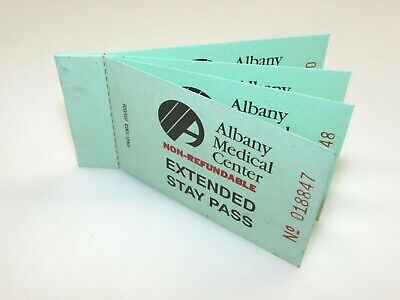 Albany Medical Center (New York) Extended Stay Parking Pass  - Book Of 4