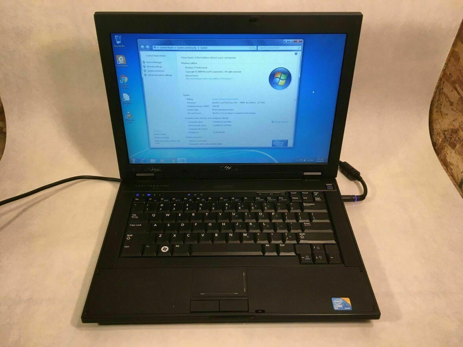 """Laptop Windows - Dell Latitude E5400 14"""" Laptop Intel Core 2 Duo 2.26GHz 2GB 320GB Windows 7"""