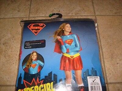 DC SUPERGIRL TEEN HALLOWEEN COSTUME COSPLAY LG 12-14 NEW CHILD TWEEN