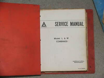 Allis Chalmers Combine M L Series Service Catalog Manual