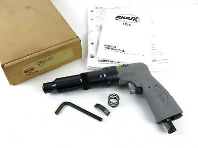 Sioux Tools 2p2505 Pistol Grip Nut Runner Wrench 400 Rpm 14 Drive