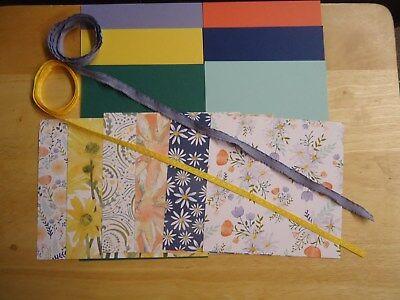 "Stampin Up DELIGHTFUL DAISY 6 X 6"" Designer Paper Card Kit Ribbon RARE"