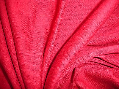 0,50 Lfm Bündchenstoff 4,07€/m² Baumwolle Lycra leuchtend rot