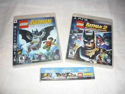 LEGO Batman: The Videogame 1 & 2 BOTH GAMES (Sony PlayStation 3, 2008)