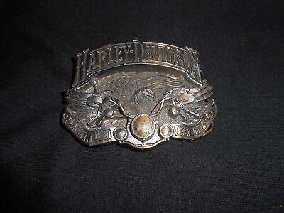 Vintage Harley Davidson Belt Buckle 1991 Baron Made in USA H402