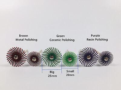 Dental Composite Resin Spiral Finishing Polishing Disc Wheel Ceramic Mandrel