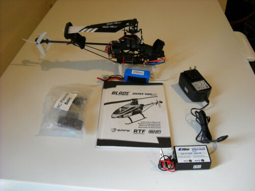 Working Used Blade 200SRX Helicopter w/ Many Extra Parts For Repair or Parts