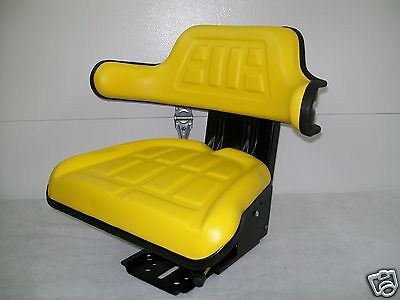 SUSPENSION SEAT JOHN DEERE TRACTOR YELLOW,1530,2020,2030,2040,2155, JD #IE