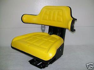 SUSPENSION SEAT JOHN DEERE TRACTOR YELLOW,1530,2020,2030,2040,2155, JD #IE