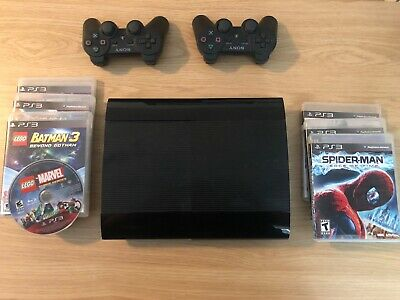 Sony Playstation 3 Super Slim 500GB, ps3, video game console, video games