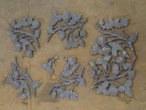5--VINTAGE--WROUGHT IRON--ROSE PIECES