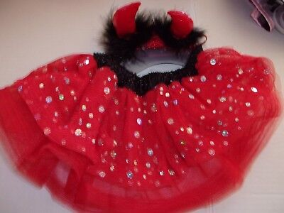 Red DEVIL TUTU Dog Tulle New Halloween costume O/S One Size Horns Bootique](Devil Dog Costumes)