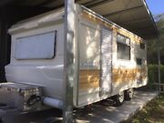 Restored vintage Olympic 3 bunk caravan Tallebudgera Gold Coast South Preview