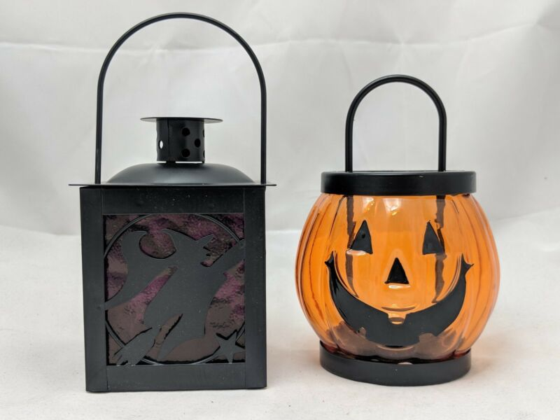 Tealight Holders Jack O Lantern Pumpkin Witch Lantern Yankee Candle Halloween