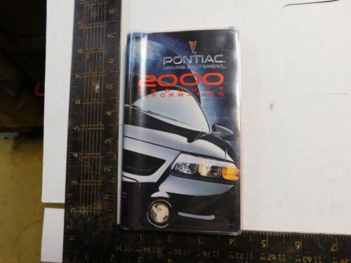 2000 PONTIAC PRODUCT INFORMATION BOOKLET