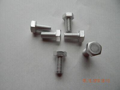 Aluminum Hex Cap Screws 12-13 X 1  6 Pcs. New