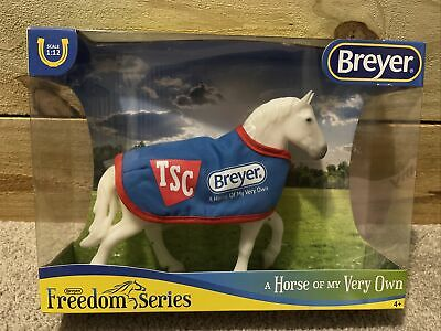 New Breyer TSC Classic Percheron Draft Horse with Blue Blanket Freedom Series
