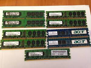 Desktop Ram (9 X 1gb) sticks  PC2-4200 DDR2/533   D71