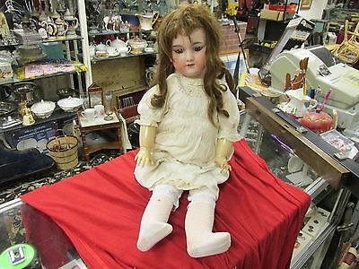 ARMAND MARSEILLE A13M 390 Antique Bisque Doll Germany Sleepy NICE HUGE