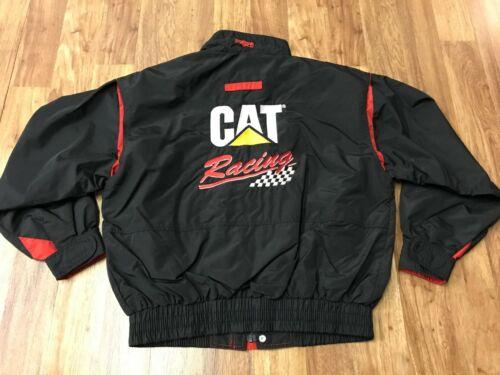 MEDIUM - Vtg CAT Caterpillar Racing Team Embroider Lined Windbreaker Zip Jacket