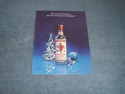 1980 Beefeater Dry Gin Vintage Christmas Ad