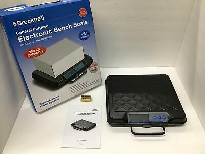 Brecknell Portable Digital Utility Bench Scale 250lb 12x10 Platform 816965006731