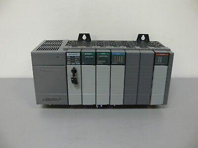 Allen Bradley Slc500 Plc 7 Slots W Slc 504 1747-l542 1747-sn Remote Scanner